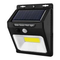 Настенный уличный светильник YX-618/566-COB, 1x18650, PIR+CDS, солнечная батарея Lux. 32009