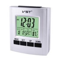 Часы электронные говорящие VST-7027, температура, 2*AA. 32867