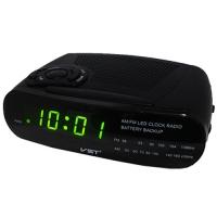 Часы сетевые VST-906-2 зеленые, радио FM, 220V. 32862