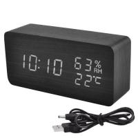 Часы сетевые VST-862S-6 белые, температура, влажность, USB. 32844