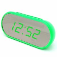 Часы сетевые VST-712Y-4, зеленые, USB. 32817