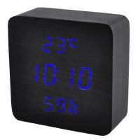 Часы сетевые VST-872S-5, синие, температура, влажность, USB. 32850