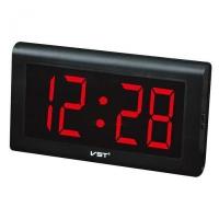 Часы сетевые VST-795-1 красные настенные, 220V. 32842