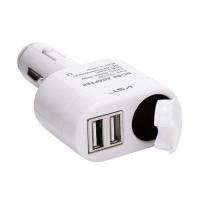 Автомобильная USB зарядка от прикуривателя 12V VST-813, 2 USB Lux. 31662