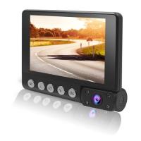 Автомобильный видеорегистратор Lux С9, LCD 4'', WDR, 1080P Full HD, 3 камеры. 31684
