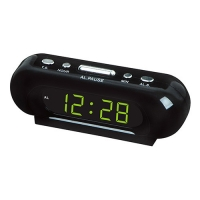 Часы сетевые VST-716-2 зеленые, 220V. 32820