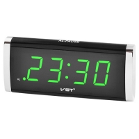 Часы сетевые VST-730-4 салатовые, 220V. 32831