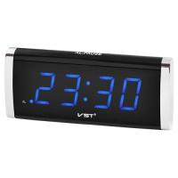 Часы сетевые VST-730-5 синие, 220V. 32832
