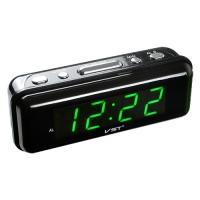 Часы сетевые VST-738-4 салатовые, 220V. 32836