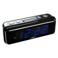 Часы сетевые VST-738-5 синие, 220V. 32837