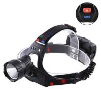 Фонарь налобный Lux XQ-219-HP50, ЗУ micro USB, 3x18650, power bank, signal light, индикация заряда, Box. 32585
