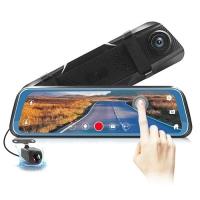 "Автомобильный видеорегистратор-зеркало Lux L-9100, LCD 9.66"" TOUCH SCREEN весь экран, 2 камеры, 1080P Full HD. 31691"