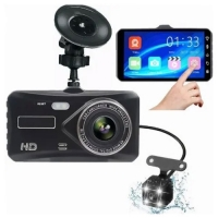 "Автомобильный видеорегистратор Lux T672, LCD 4"", TOUCH SCREEN, 2 камеры, 1080P Full HD, металл. корпус. 31681"