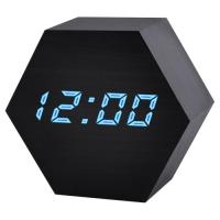 Часы сетевые VST-876-5, синие, температура, USB. 32851