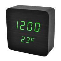 Часы сетевые VST-872-4, зеленые, температура, USB. 32848