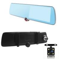 "Автомобильный видеорегистратор-зеркало Lux 1030, LCD 5"", TOUCH SCREEN, ULTRA SLIM, 3 камеры,1080P Full HD. 31685"