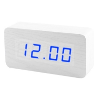 Часы сетевые VST-867-5 синие, температура, USB. 32846