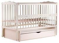 Кровать Babyroom Веселка маятник, ящик, откидной бок DVMYO-3  бук слоновая кость. 34049