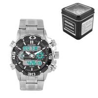 Часы наручные QUAMER 1320, Box, стальной браслет, dual time, waterproof. 32773