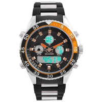 Часы наручные QUAMER 1321, браслет карбон. 32776