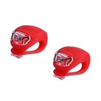 Фонарь велосипедный HJ008-2 (красный), 2xCR2032 Lux. 32426
