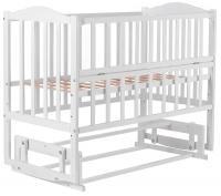 Детская кровать Babyroom Зайчонок ZL201 маятник, откидной бок  белая. 31007