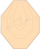 Мишень Алебарда картонная IPSC классическая. 34130218