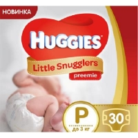 Подгузник Huggies Little Snugglers (до 3 кг) 30 шт (36000673302). 47980