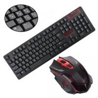 Комплект клавиатура+мышь беспроводной, игровой, 104 клавиши, 1200dpi F&D HK6500. 42636