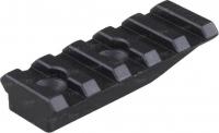 Планка Spuhr A-0003 для моноблоков и колец Spuhr. 5 слотов. Длина - 55 мм. Высота - 10 мм. Профиль - Picatinny. 37280005