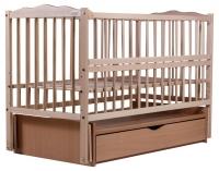 Кровать Babyroom Веселка маятник, ящик, откидной бок DVMYO-3  бук светлый (натуральный). 34048