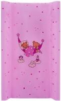 Пеленальный матрас Maltex мягкий 50х80 см  мишка в гамаке, розовый. 34523