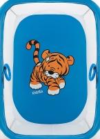 Манеж Qvatro LUX-02 мелкая сетка  синий (tiger). 34234