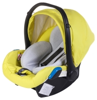 Автокресло детское Adamex Kite кожа 100% Q108 лимонная (черный пластик). 30905