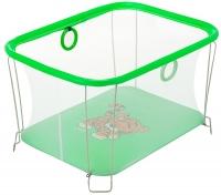 Манеж Qvatro Солнышко-02 мелкая сетка  зеленый (tiger). 34242