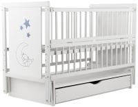 Кровать Babyroom Медвежонок M-03 маятник, ящик, откидной бок  бук белый. 34102