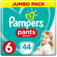 Подгузник Pampers трусики Pants Extra large Размер 6 (15+ кг), 44 шт (4015400674023). 47920