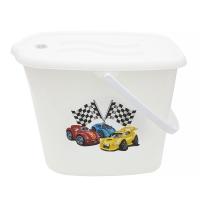 Ведерко для подгузников и воды Maltex Cars 5771  white. 33023
