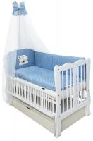 Кровать Babyroom Хвилька маятник, ящик, откидной бок DHMYO-11  бук белый. 34107