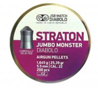 Пули пневматические (для воздушки) 5,5мм 1,645г (200шт) JSB Diabolo Straton Jumbo Monster. 14530536