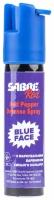 Газовый баллончик Sabre Red Blue Face струйный с синим маркером. Объем - 22 мл. С брелоком. 4290036