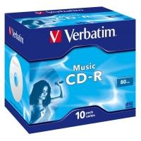 Диск CD Verbatim 700Mb 16x Jewel Case 10 Pack Music (43365). 48095