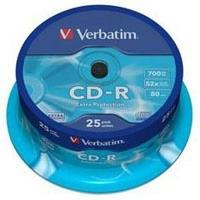 Диск CD Verbatim 700Mb 52x Cake box 25шт Extra (43432). 48091