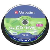 Диск CD Verbatim 700Mb 12x Cake box 10шт (43480). 48092