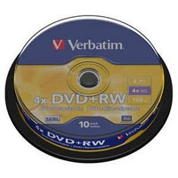 Диск DVD Verbatim 4.7Gb 4x CakeBox 10 шт silver (43488). 48108