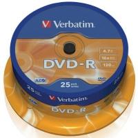 Диск DVD Verbatim 4.7Gb 16X CakeBox 25шт (43522). 48097