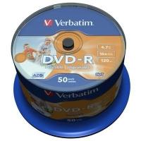 Диск DVD Verbatim 4.7Gb 16X CakeBox 50шт AZO Print (43533). 48122