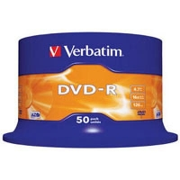 Диск DVD Verbatim 4.7Gb 16X CakeBox 50шт (43548). 48113