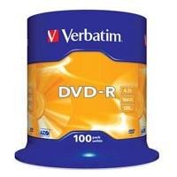 Диск DVD Verbatim 4.7Gb 16X CakeBox 100шт (43549). 45821