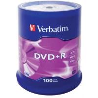Диск DVD Verbatim 4.7Gb 16X CakeBox 100шт (43551). 48098
